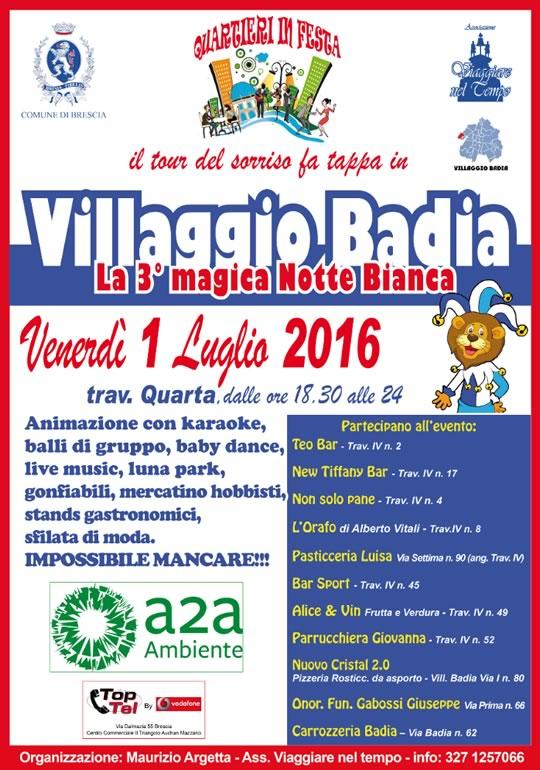 3° Magica Notte Bianca al Villaggio Badia