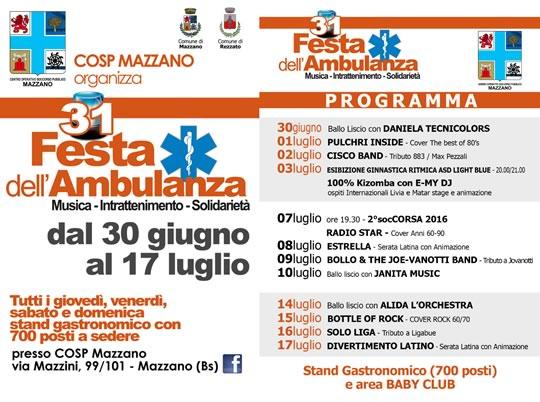 31 Festa dell'Ambulanza a Mazzano