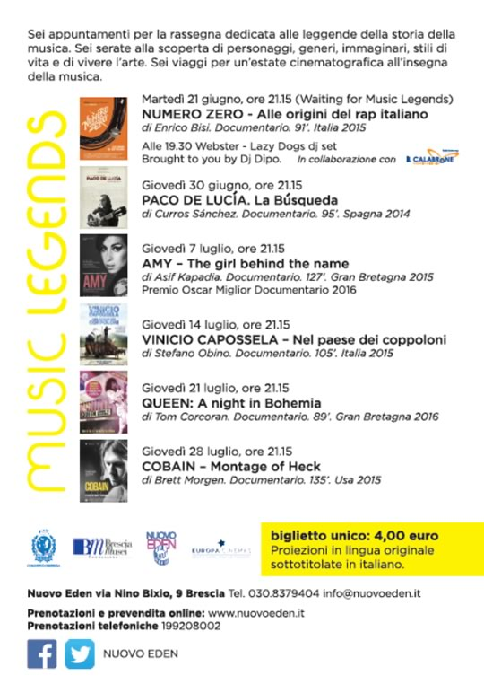 9 Music Legends Brescia