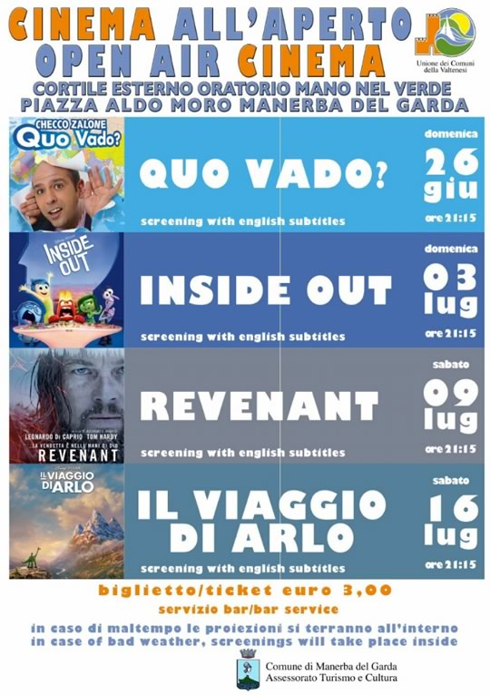 Cinema all'Aperto a Manerba del Garda