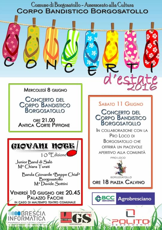 Concerto d'Estate 2016 a Borgosatollo