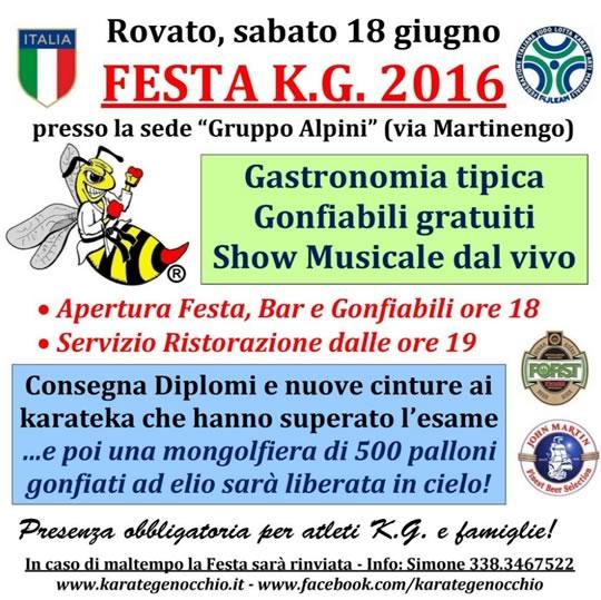 Festa K.G. 2016 a Rovato