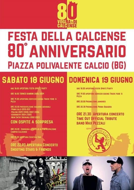 Festa della Calcense 80° Anniversario a Calcio BG