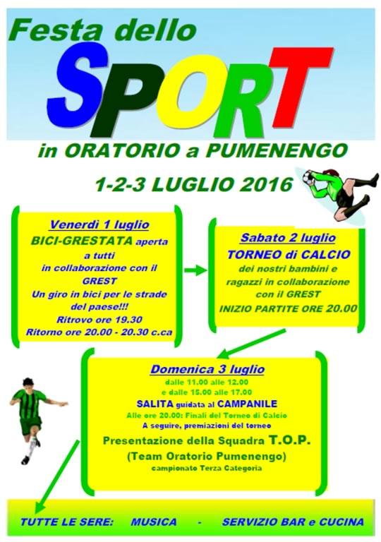 Festa dello Sport a Pumenengo BG
