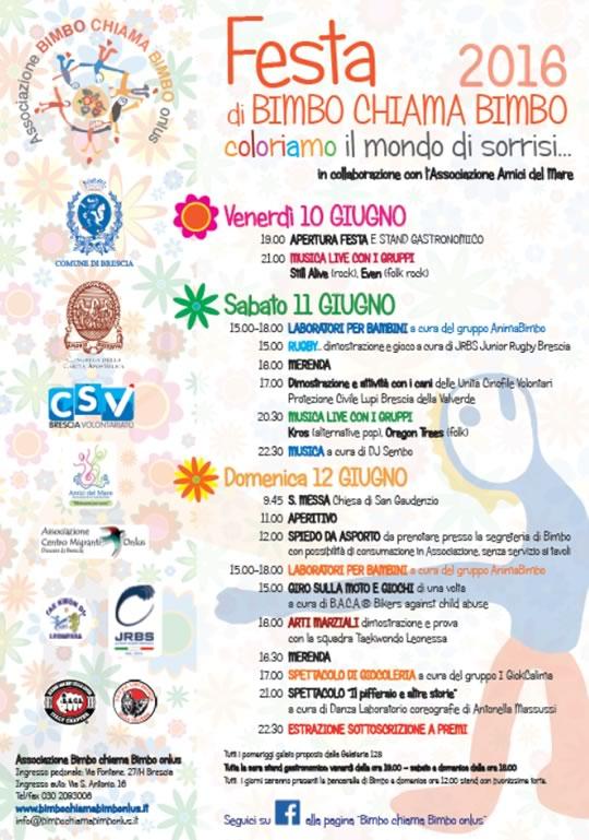Festa di Bimbo Chiama Bimbo a Brescia
