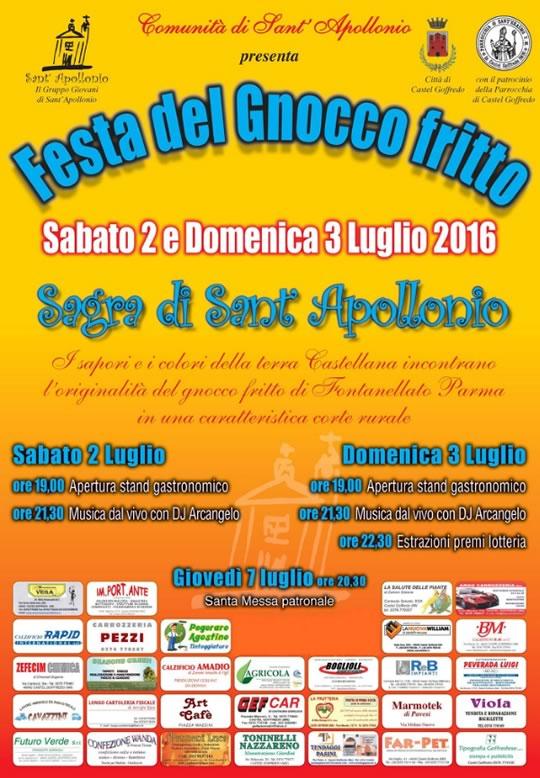 Festa di Sant'Apollonio a Castel Goffredo MN