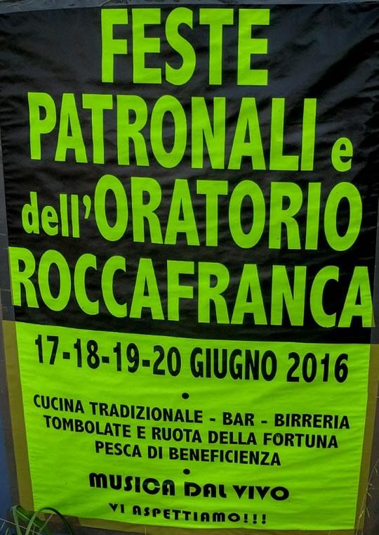 Feste Patronali dell'Oratorio a Roccafranca