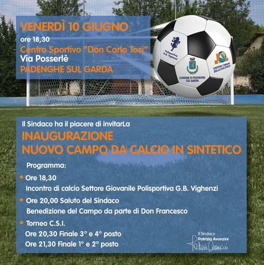 Inaugurazione Campo Calcio in Sintetico a Padenghe