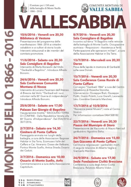 Montesuello 1866-2016 in Valle Sabbia