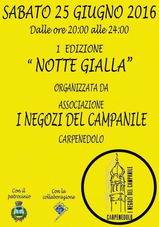Notte Gialla a Carpenedolo