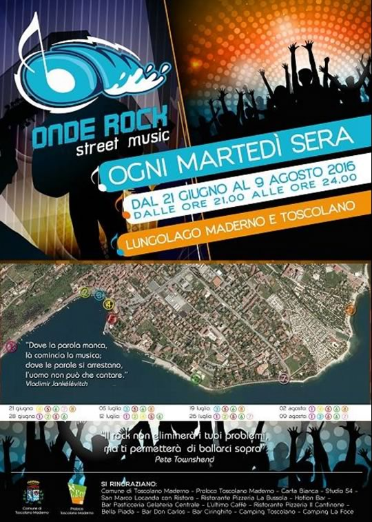Onde Rock Street Music a Toscolano Maderno