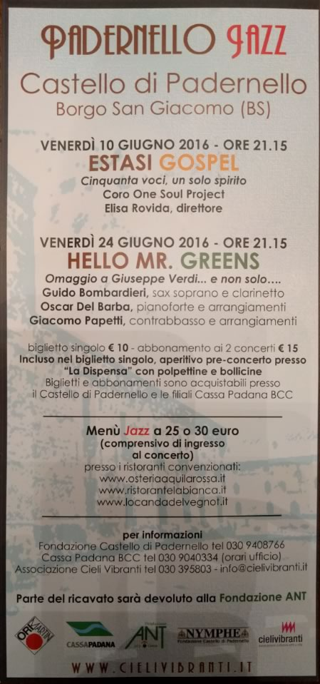 Padernello Jazz 2016