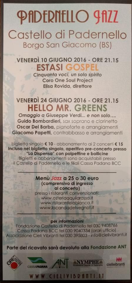 Padernello Jazz 2016