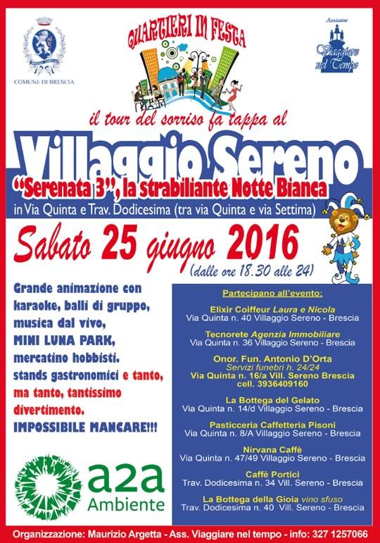 Serenata 3, la Notte Bianca al Villaggio Sereno