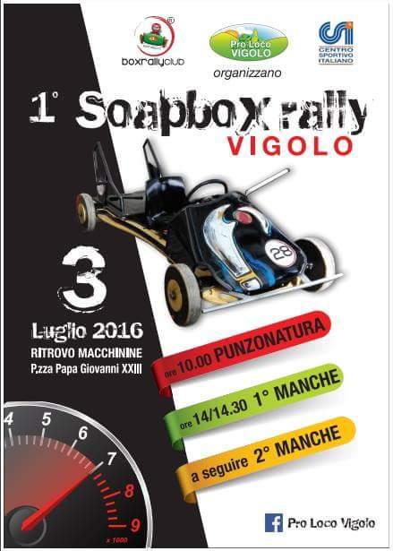 Soapbox x rally a Vigolo BG