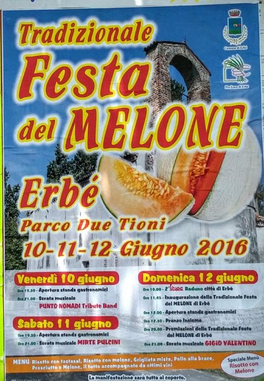 Tradizionale Festa del Melone a Erbè VR