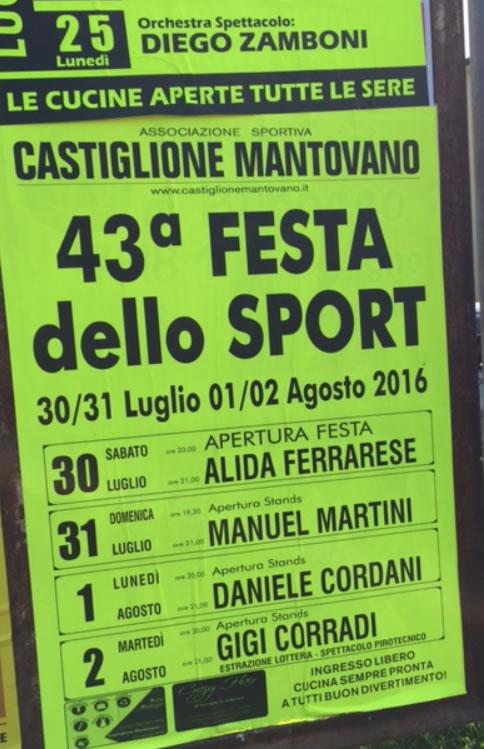 43 Festa dello Sport a Castiglione Mantovano