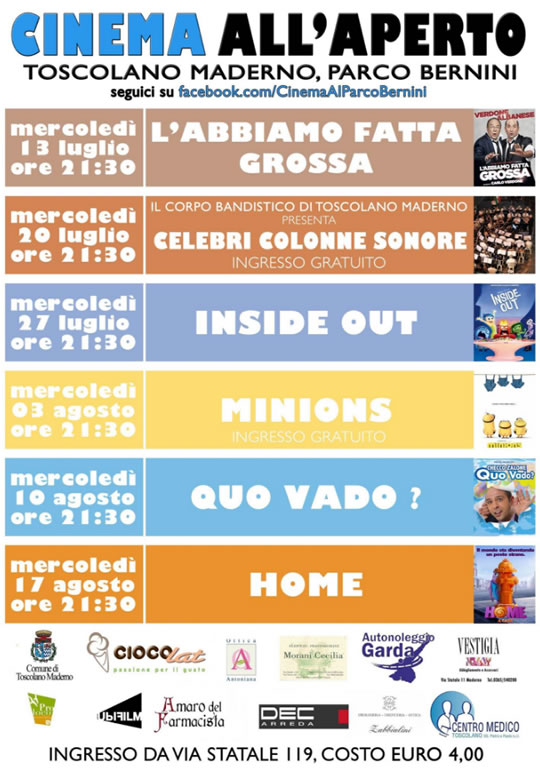 Cinema all'Aperto a Toscolano Maderno