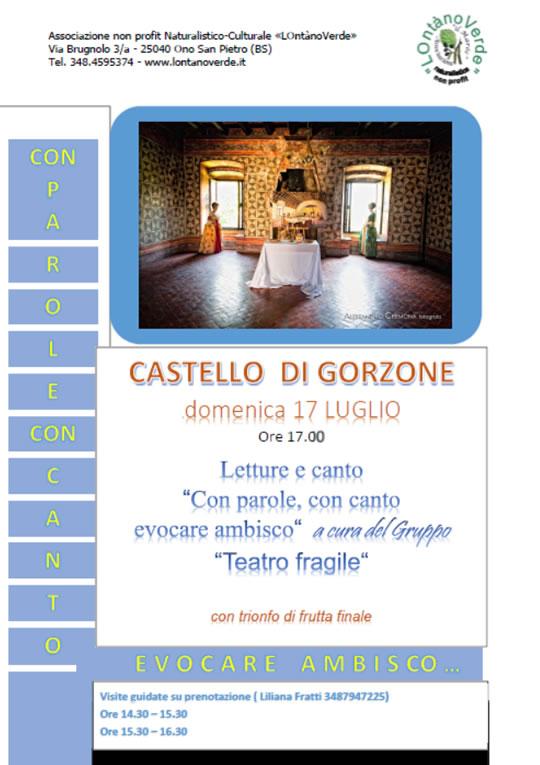 Con Parole con Canto Evocare Ambisco al Castello di Gorzone