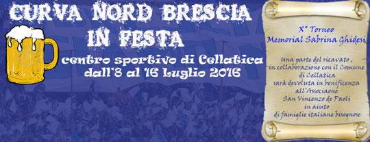 Curva Nord Brescia in Festa a Cellatica