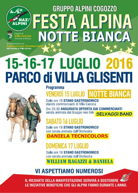 Festa Alpina e Notte Bianca a Villa Carcina
