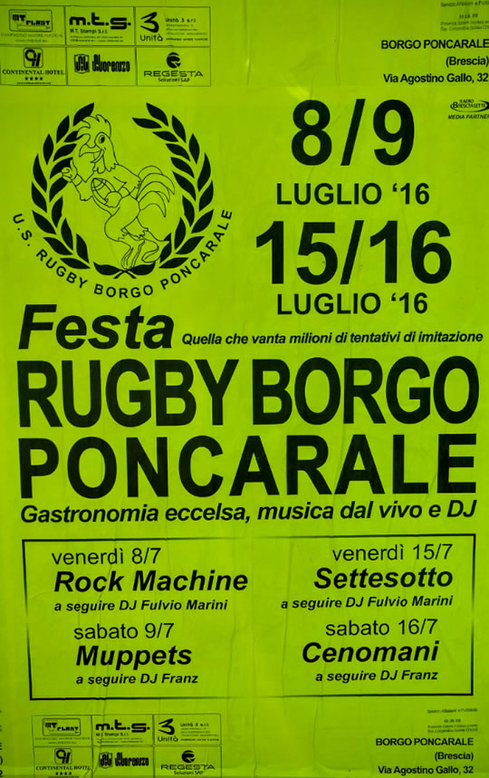 Festa Rugby Borgo Poncarale