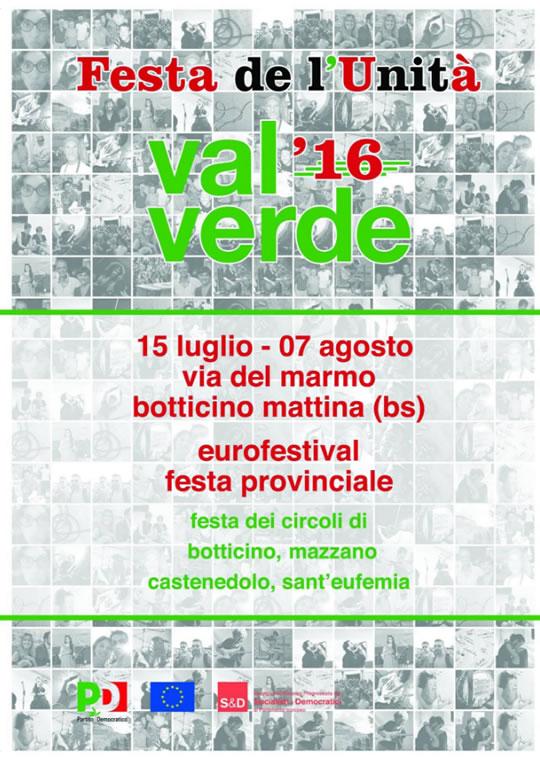 Festa de l'Unità Val Verde Botticino