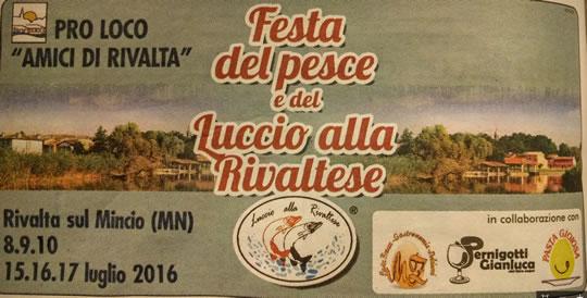 Festa del Pesce e del Luccio alla Rivaltese a Rivalta sul Mincio MN