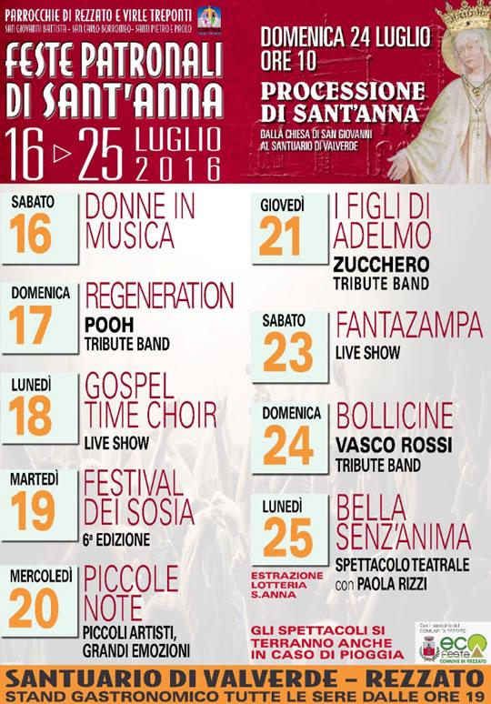 Feste Patronali di Sant'Anna a Rezzato