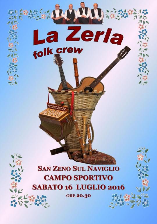La Zerla Folk Crew in concerto a San Zeno N