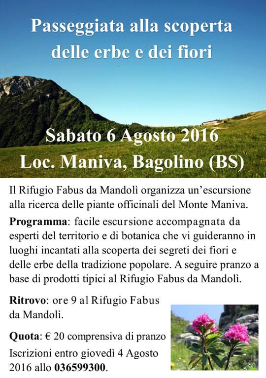 Passeggiata alla scoperta delle erbe e dei fiori Bagolino