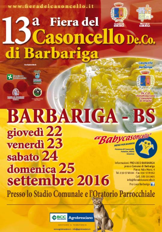 13° Fiera del Casoncello a Barbariga