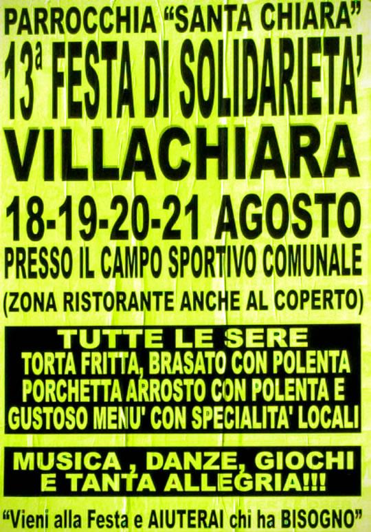 13 Festa di Solidarietà a Villachiara