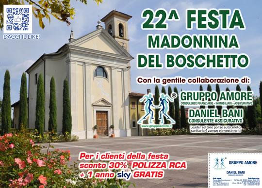 22° Festa Madonnina del Boschetto a Castel Mella