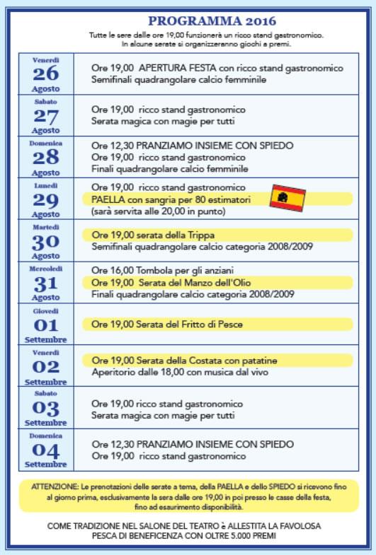 25 Festa Popolare Fornaci (BS)