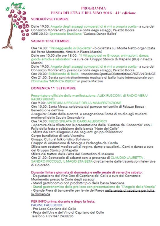 41°Festa dell'Uva a Capriano