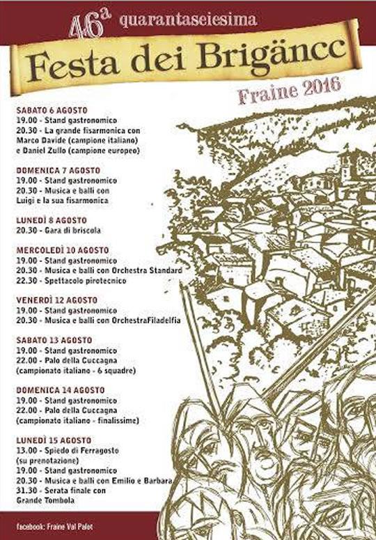 46 Festa dei Brigancc Fraine Val Palot