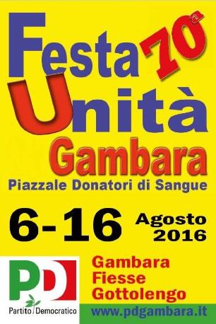 70 Festa Unità a Gambara