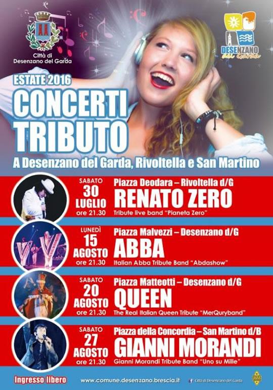 Concerti Tributo a Desenzano Rivoltella e San Martino DB