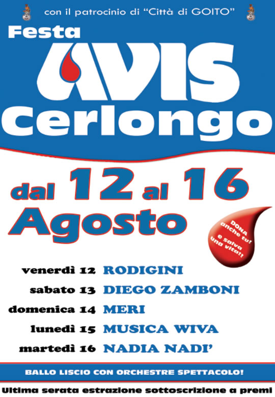 Festa AVIS Cerlongo MN