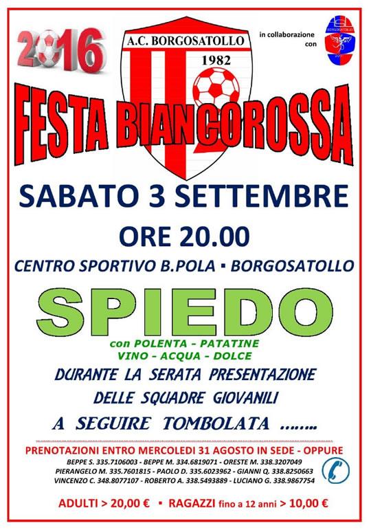 Festa Biancorossa a Borgosatollo