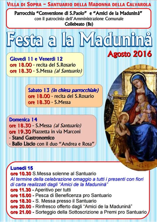 Festa a la Madunina a Collebeato
