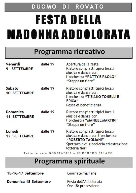 Festa della Madonna Addolarata a Rovato