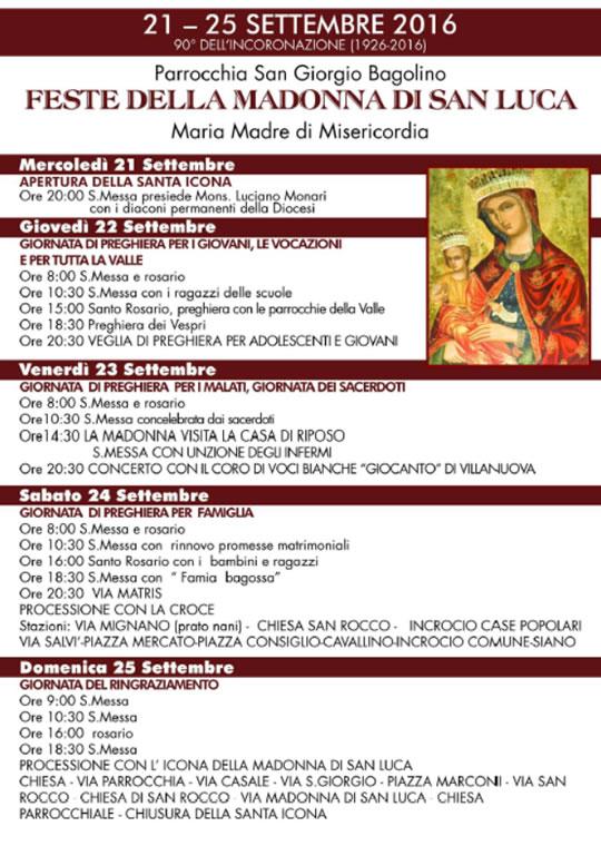 Festa della Madonna di San Luca a Bagolino