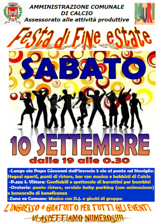 Festa di Fine Estate a Calcio (BG)