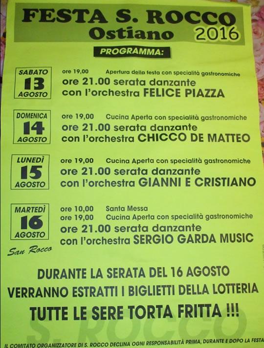 Festa di S. Rocco a Ostiano CR