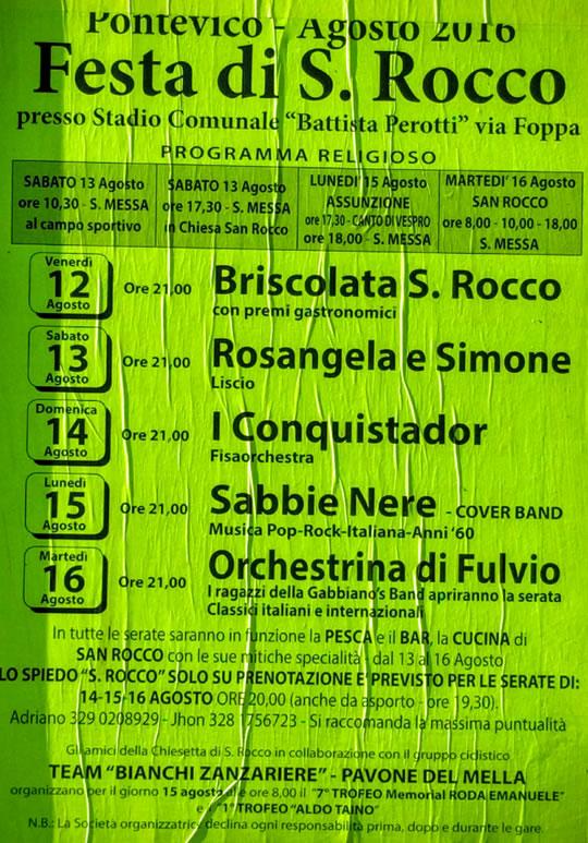 Festa di S. Rocco a Pontevico