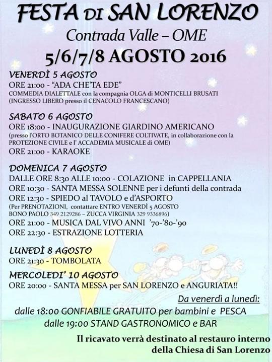 Festa di San Lorenzo a Ome