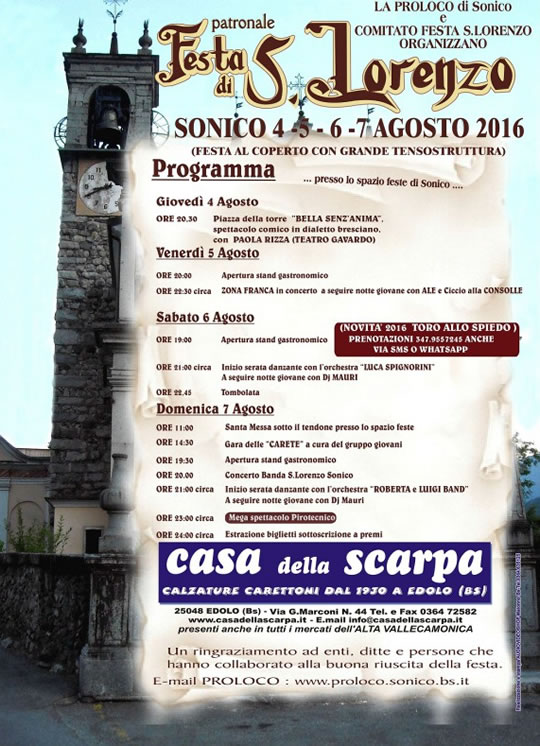 Festa di San Lorenzo a Sonico