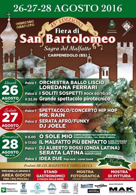45 fiera di san bartolomeo a carpenedolo for Fiera elettronica calendario 2016